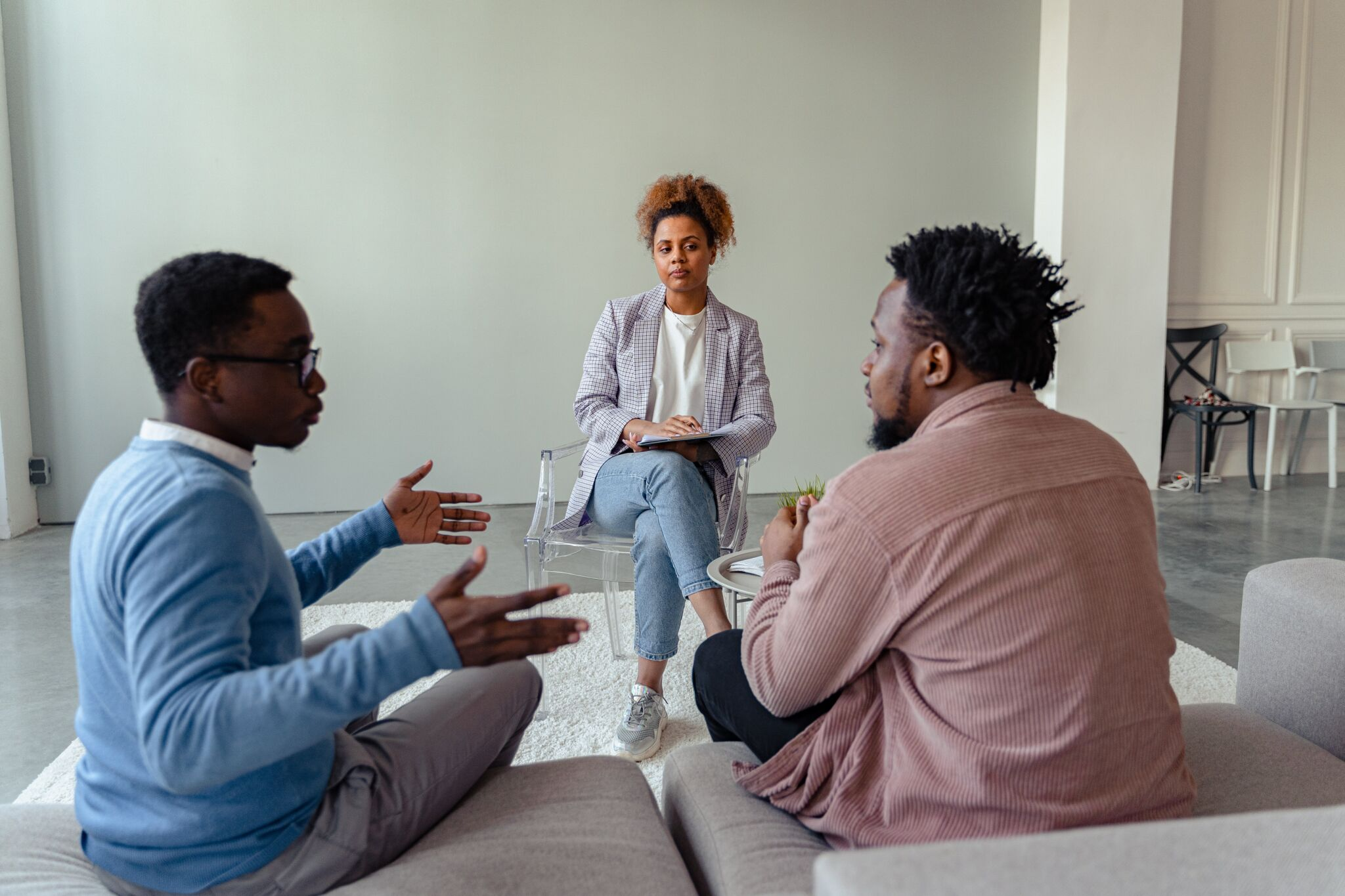Men in Counseling Session
